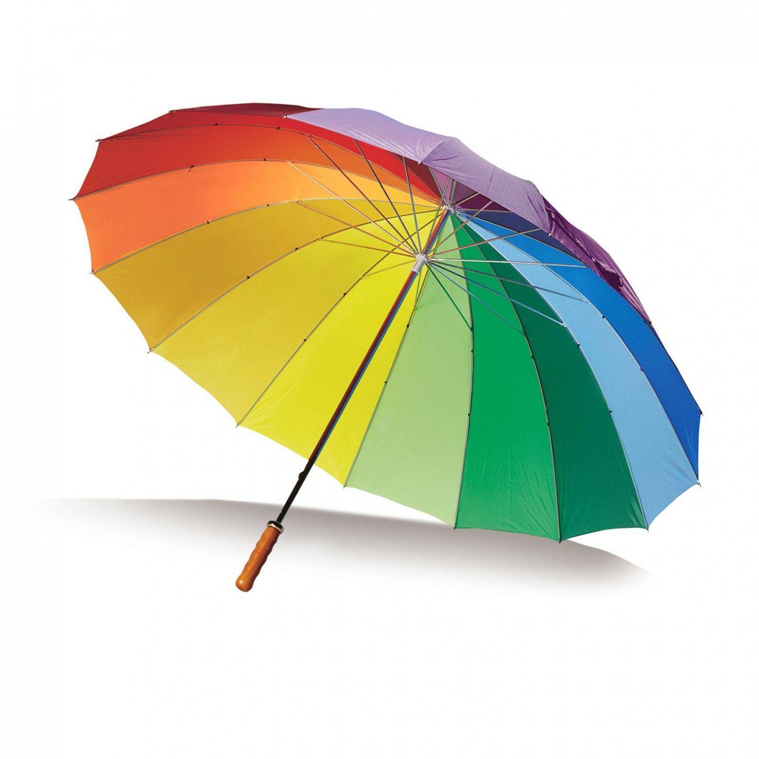 regenboog paraplu goedkoop bedrukken met logo vanaf 25