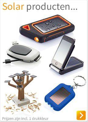 Solar producten bedrukken met logo