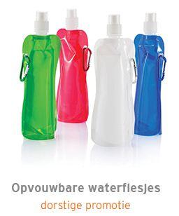 Opvouwbare waterflesjes