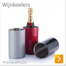 Wijnkoelers graveren of bedrukken