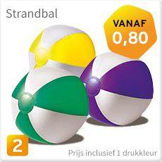 Strandbal met logo bedrukken