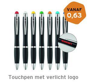 Touchpen met verlicht logo bedrukken