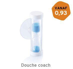 Verzendbare douche coach