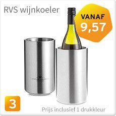 RVS wijnkoeler bedrukken