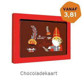Chocoladekaart Sint met logo