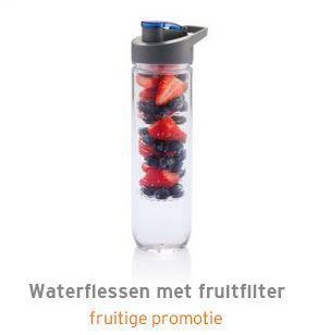 Waterflessen met fruitfilter bedrukken