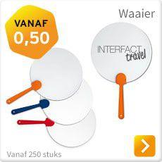 Waaier met logo