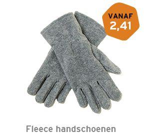 Fleece handschoenen bedrukken
