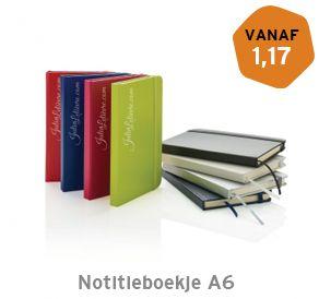 Notitieboekje harde kaft A6