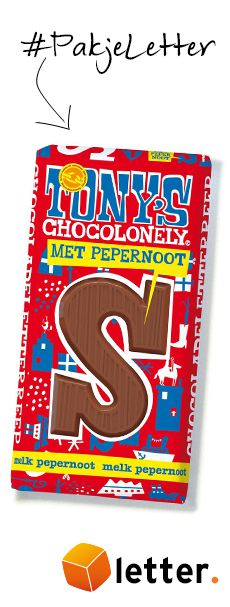 Tony Chocolonely Pepernoot letters