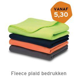 Fleece plaid bedrukken