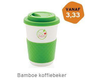Bamboe koffiebeker bedrukken