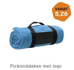 Picknickdeken met logo bedrukken