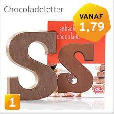Chocoladeletter Fairtrade