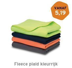 Fleece plaid Kleurrijk