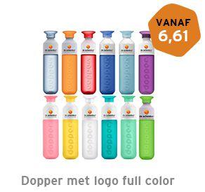 Dopper met logo full color