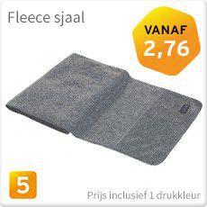 Fleece sjaal bedrukken