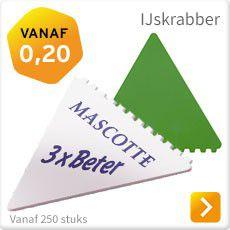 IJskrabber goedkoop met logo bedrukken