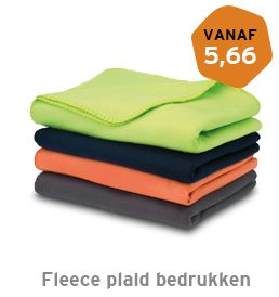 Fleece plaid bedrukken