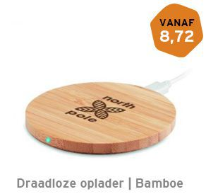 Draadloze oplader Bamboe