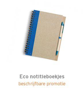 Eco notitieboekjes bedrukken