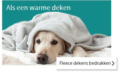 Fleece dekens bedrukken