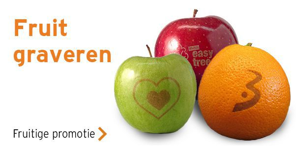 Fruit met logo