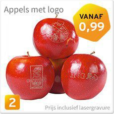 Appels met logo
