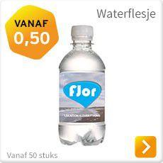Waterflesje met logo